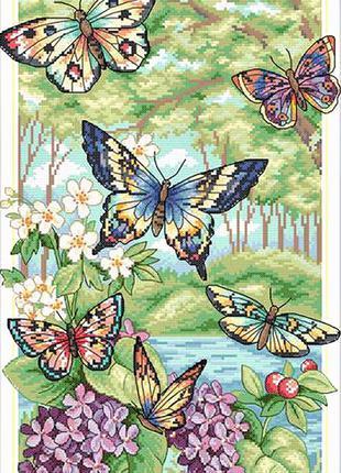Набор для вышивки крестом Бабочки 39*24,5 см