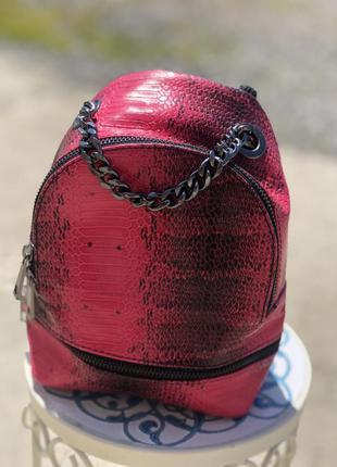 Женский кожаный рюкзак сумка кроссбоди италия