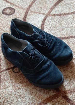 Ботинки нат замш