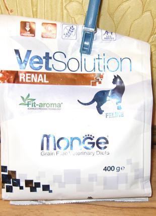 Сухой диетический корм для кошек MONGE VETSOLUTION RENAL 360г