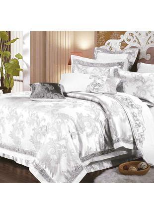 Элитное постельное белье Viluta Сатин жаккард Tiare 1715 Семейный