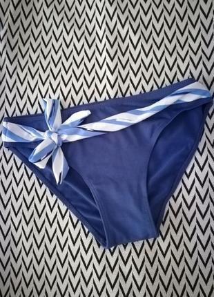 Синие плавки трусики от купальника