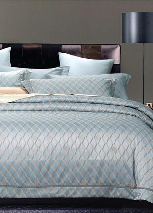 Элитное постельное белье Viluta Сатин жаккард Tiare 2006 Евро