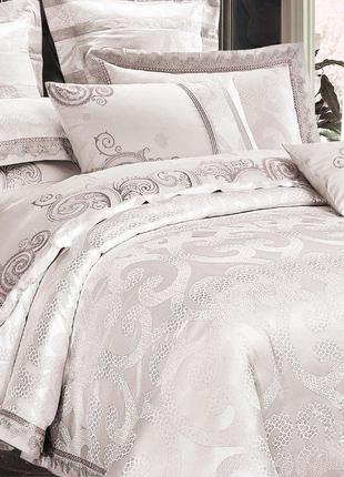 Элитное постельное белье Viluta Сатин жаккард Tiare 1924 Евро