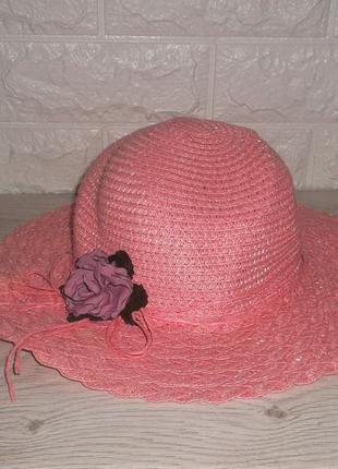 Шляпа плетенная детская рр. 46-48