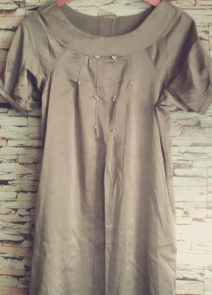 Платье миди цвета хаки р10-12