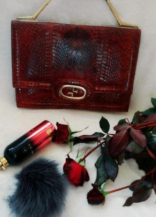 Сумка барсетка портфель из кожи питона , змеи, кобры
