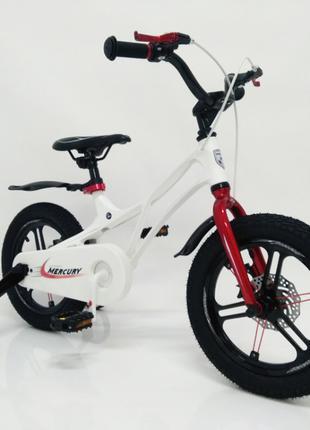 Детский велосипед 14 дюймов Mercury магниевая рама белый