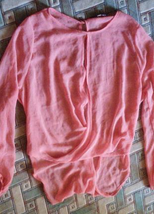 Блуза с удлиненной спинкой р- 8