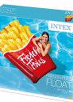 Пляжный надувной матрас Intex  «Картошка фри», 175
