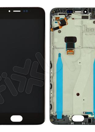 Дисплей Meizu M3 Note с тачскрином в сборе и рамкой