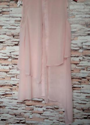Блуза длинная,платье - рубашка  р-8-10