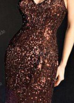 Платье в паетках  от zara  р-8 (10)