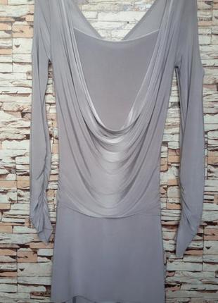 Платье серебристого  цвета р-10