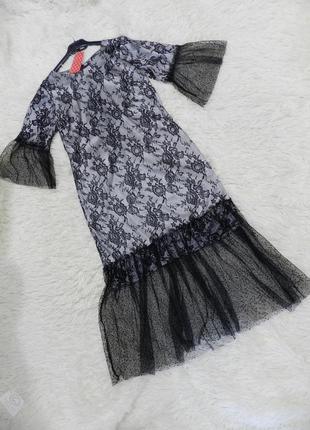 Платье гипюр кружево сетка