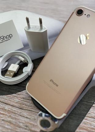 Apple iPhone 7 128гб Rose Gold NEVERLOCK комплект,гарантия.