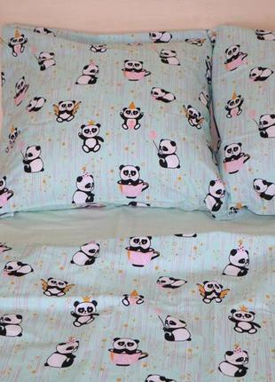 Детский постельный комплект панды