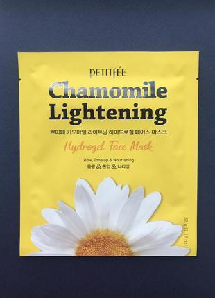 Гидрогелевая маска с ромашкой petitfee chamomile lightening hy...