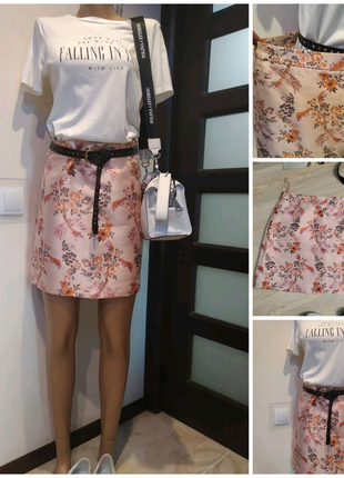 Стильная брэндовая юбка мини в китайском стиле