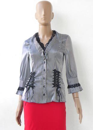 Стильна блуза в полоску 46 розмір (40 євророзмір)