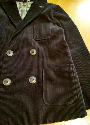 Вельветовый пиджак для мальчика 7 - 8 лет
