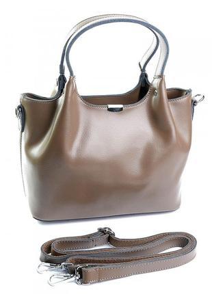 Кожаная женская сумка жіноча шкіряна