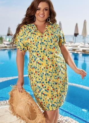 Легкое  платье  из штапеля