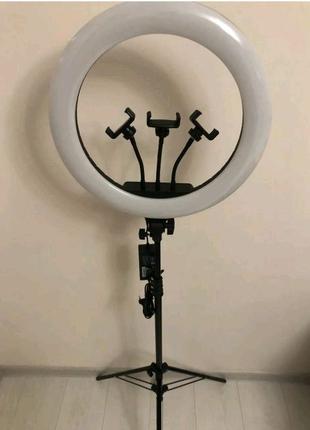 Кольцевая лампа 45см.60ват.+штатив 2 метра+сумка