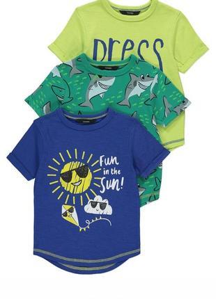 Набор футболок george с ярким принтом