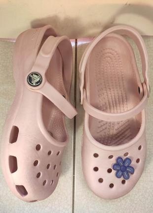 Летние клоги детские босоножки сабо кроксы crocs crocband 34 р...