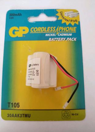 Аккумулятор GP T105 (30AAK3TMU; 3.6V 300mAh)