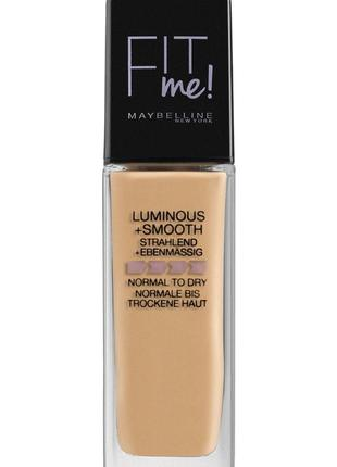 Maybelline new york fit me luminous & smooth liquid foundation...
