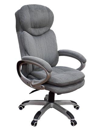 Кресло руководителя офисное Lordos grey/темно-оливковое