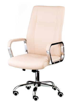 Кресло руководителя офисное Marble beige