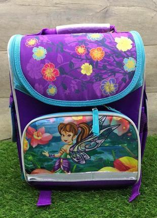 Школьный рюкзак для девочки ортопедический каркасный (фея)