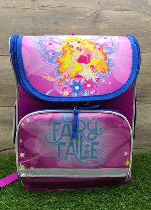 Школьный рюкзак для девочки ортопедический каркасный (fairy tale)