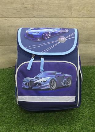 Школьный рюкзак для мальчика ортопедический синий (bugatti)