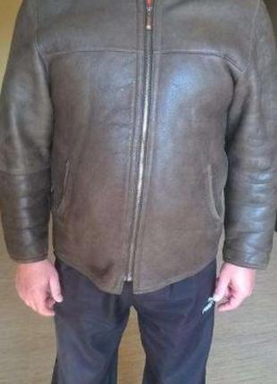 Куртка кожаная мужская. Размер 50 - 52