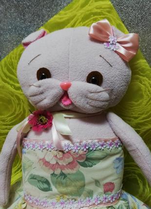 Кошечка Лили из флиса ручная работа 58см