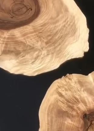 Слэбы из дерева, под заказ. Спил ореха, дуба. Стол река.