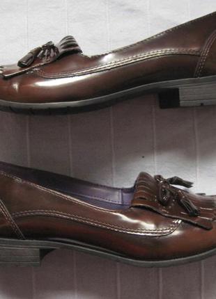Hotter shipley (39) кожаные туфли лоферы женские