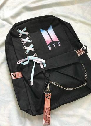 Рюкзак bts с цепью и лентой
