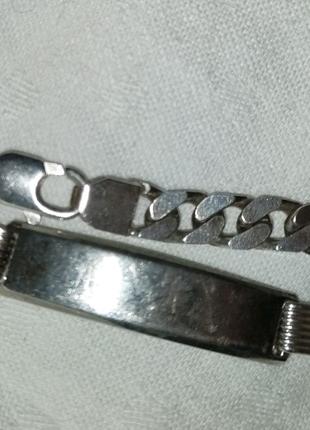 Браслет из серебра 925 пробы. Италия