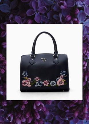 Черная вышитая сумка. женская вышитая сумка