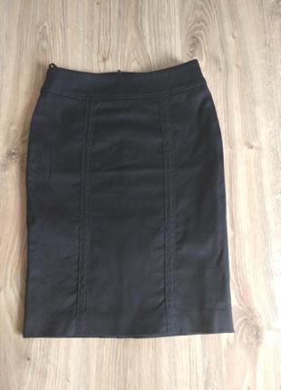 Черная классическая юбка