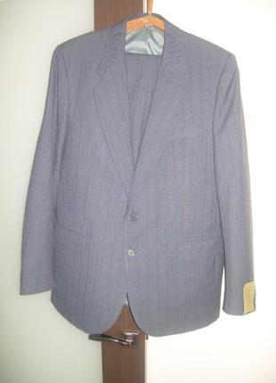 Винтажный мужской костюм 50-52, шерсть, новый, СССР