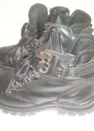 Ботинки кожаные с откидными шипами MIDA, 38 р., б/у