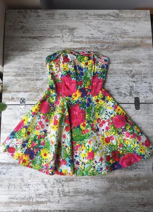 Платье корсет на косточках хлопок
