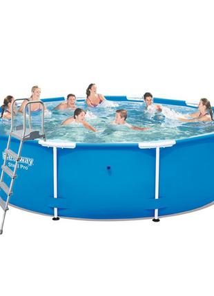 Каркасный бассейн Bestway 5612U 427х132 см (лестница)