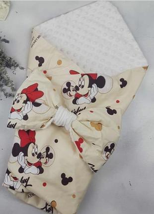 Конверт плед одеяло на выписку в роддом демисезонный